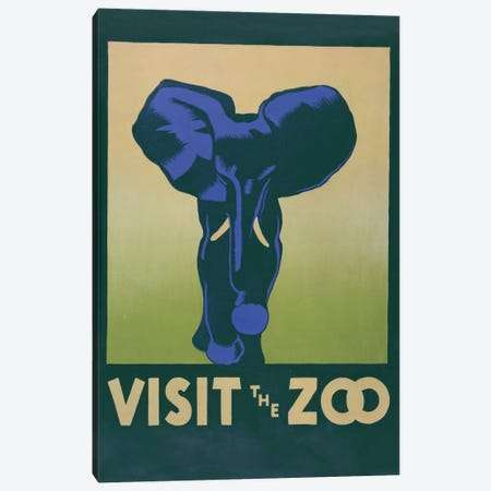 Visit The Zoo (Elephant) Canvas Print #LOC27} by Library of Congress Canvas Artwork