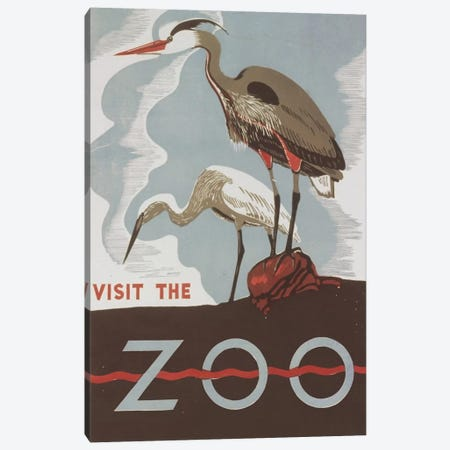 Visit The Zoo (Herons) Canvas Print #LOC28} by Library of Congress Art Print