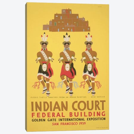 WPA Art Project: Indian Court Canvas Print #LOC30} by Library of Congress Canvas Wall Art