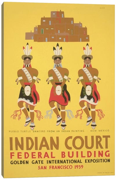 WPA Art Project: Indian Court Canvas Art Print