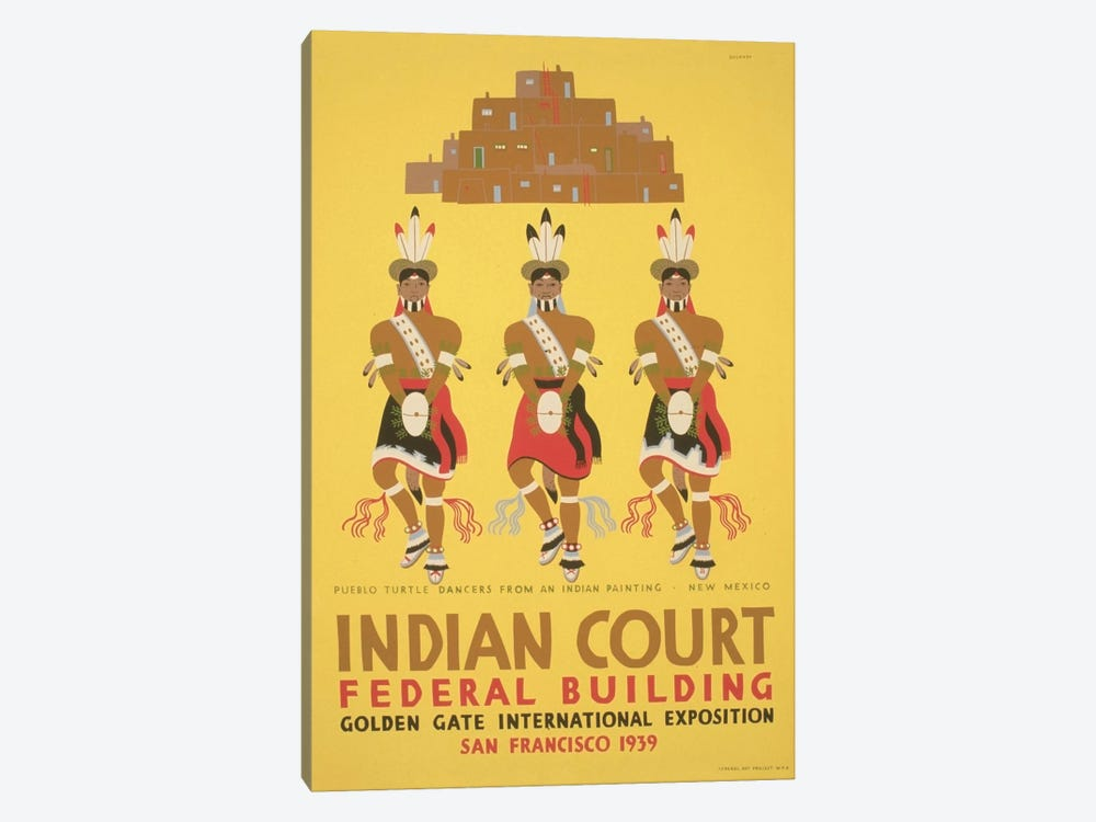 WPA Art Project: Indian Court by Library of Congress 1-piece Canvas Wall Art