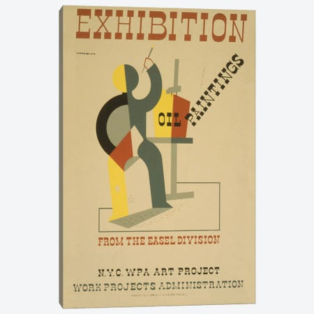 WPA Art Project: Oil Paintings From The Easel Division Canvas Print #LOC31} by Library of Congress Canvas Art