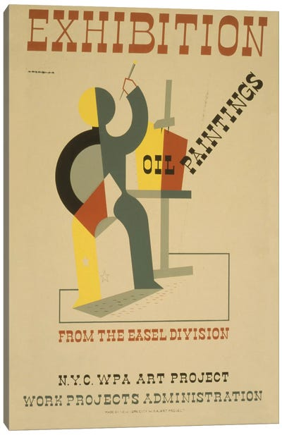 WPA Art Project: Oil Paintings From The Easel Division Canvas Art Print