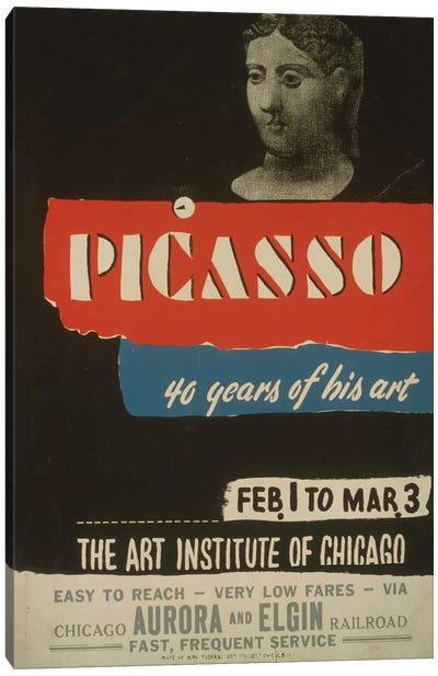 WPA Art Project: Picasso - 40 Years Of His Art Canvas Print #LOC32