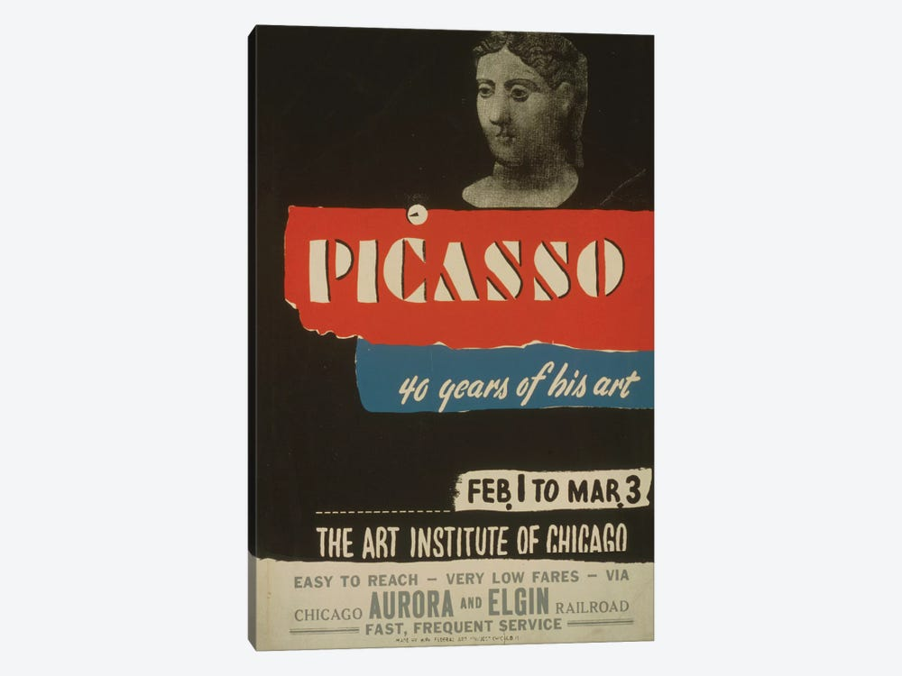 WPA Art Project: Picasso - 40 Years Of His Art by Library of Congress 1-piece Canvas Art