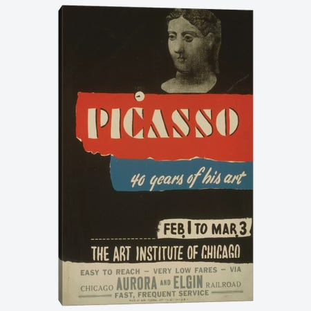 WPA Art Project: Picasso - 40 Years Of His Art Canvas Print #LOC32} by Library of Congress Canvas Artwork