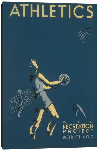 WPA Recreation Project: Athletics I Canvas Print #LOC33