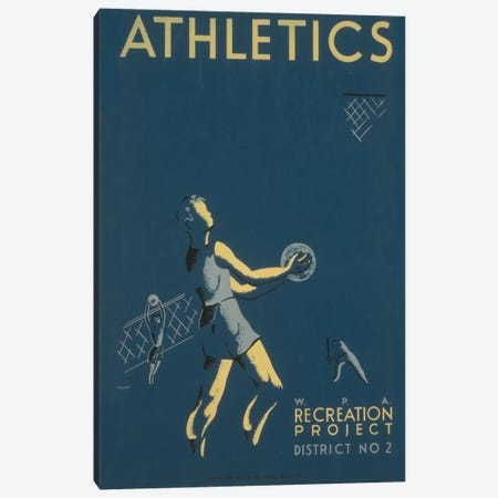 WPA Recreation Project: Athletics I Canvas Print #LOC33} by Library of Congress Canvas Artwork