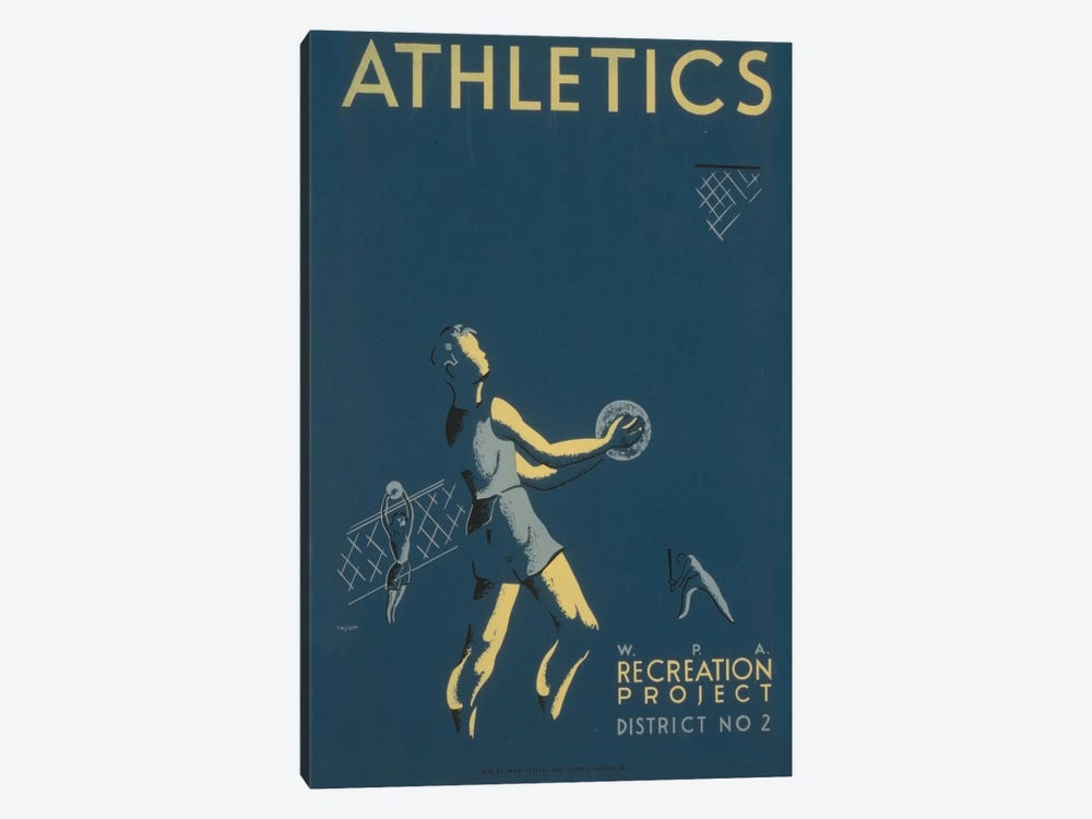 WPA Recreation Project: Athletics I by Library of Congress 1-piece Art Print