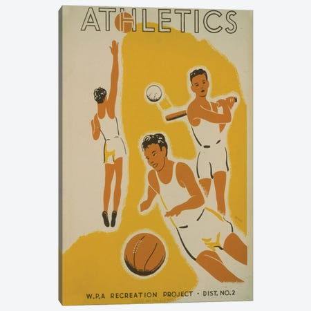 WPA Recreation Project: Athletics II Canvas Print #LOC34} by Library of Congress Canvas Art Print