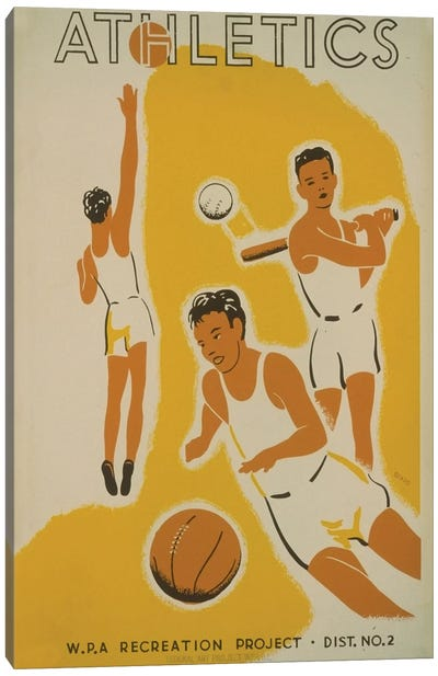 WPA Recreation Project: Athletics II Canvas Art Print