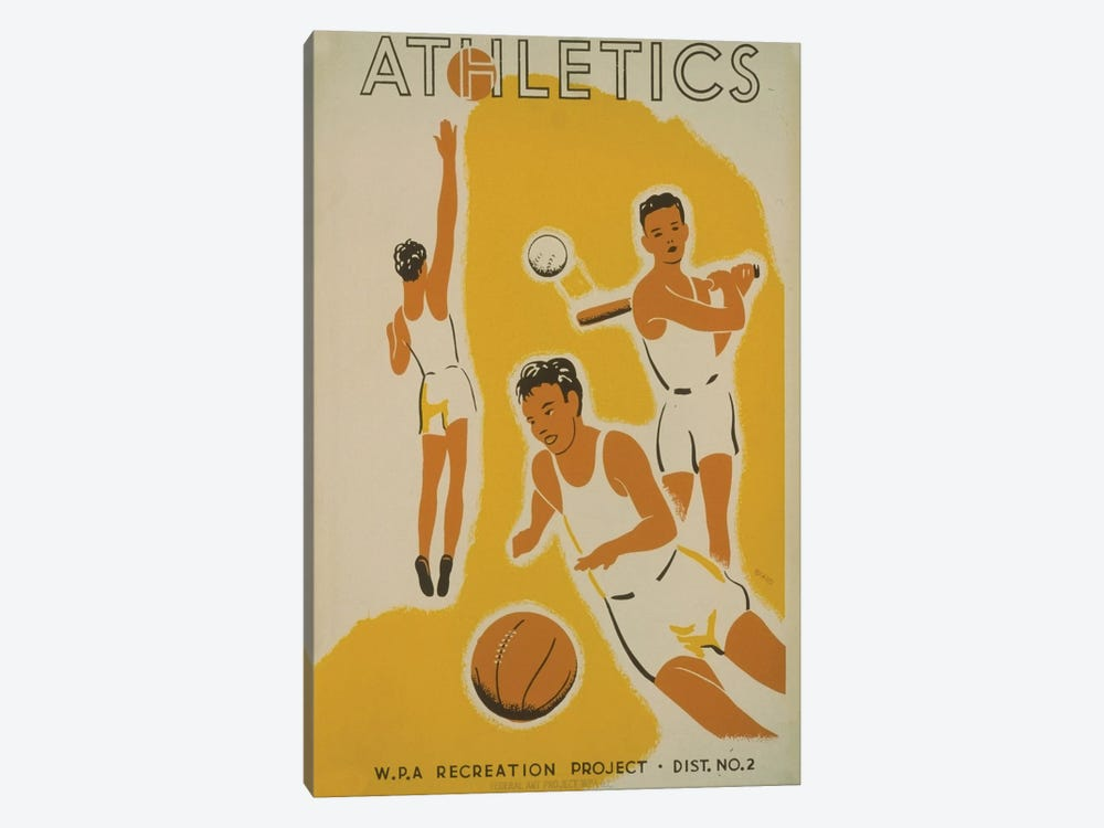 WPA Recreation Project: Athletics II by Library of Congress 1-piece Canvas Art