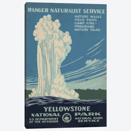 Yellowstone National Park (Ranger Naturalist Service) Canvas Print #LOC36} by Library of Congress Canvas Art Print