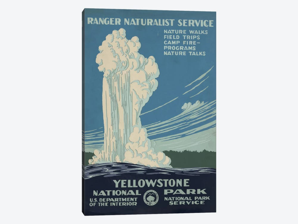 Yellowstone National Park (Ranger Naturalist Service) by Library of Congress 1-piece Canvas Wall Art