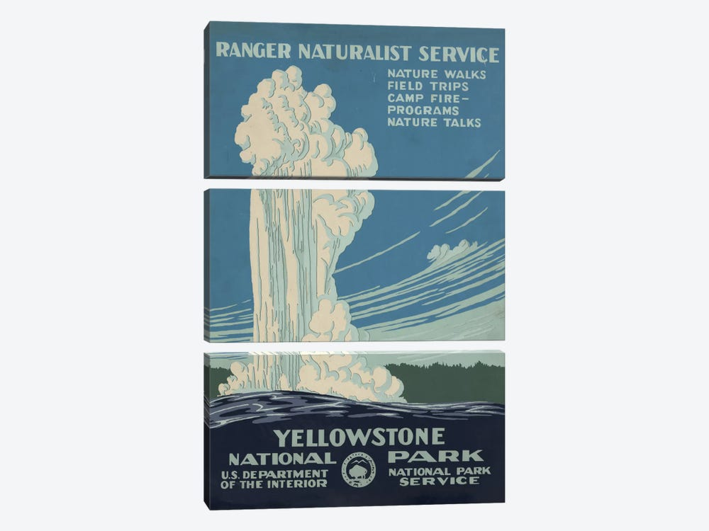 Yellowstone National Park (Ranger Naturalist Service) by Library of Congress 3-piece Canvas Artwork