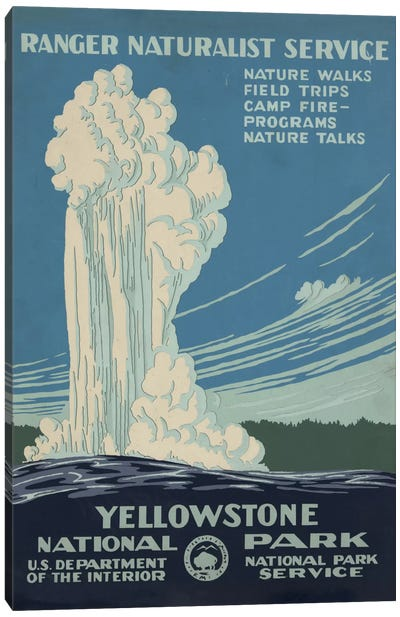 Yellowstone National Park (Ranger Naturalist Service) Canvas Art Print