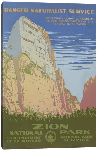 Zion National Park (Ranger Naturalist Service) Canvas Art Print