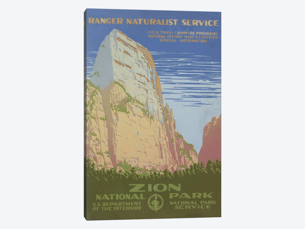 Zion National Park (Ranger Naturalist Service) by Library of Congress 1-piece Art Print