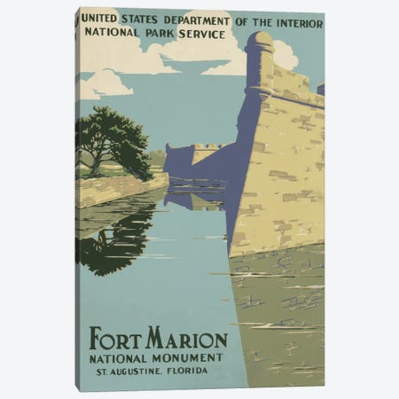 Fort Marion National Monument, St. Augustine, Florida Canvas Print #LOC3} by Library of Congress Canvas Art Print