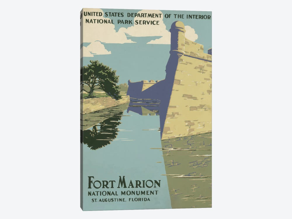 Fort Marion National Monument, St. Augustine, Florida by Library of Congress 1-piece Canvas Art