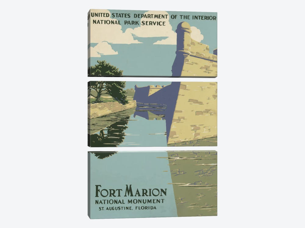 Fort Marion National Monument, St. Augustine, Florida by Library of Congress 3-piece Canvas Artwork