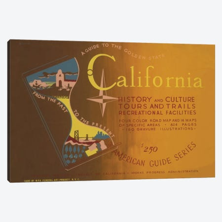 The Golden State Canvas Print #LOC4} by Library of Congress Canvas Artwork