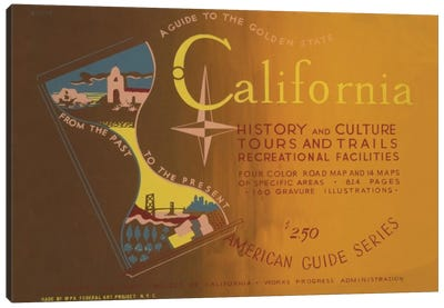 FWP American Guide Series: The Golden State Canvas Print #LOC4
