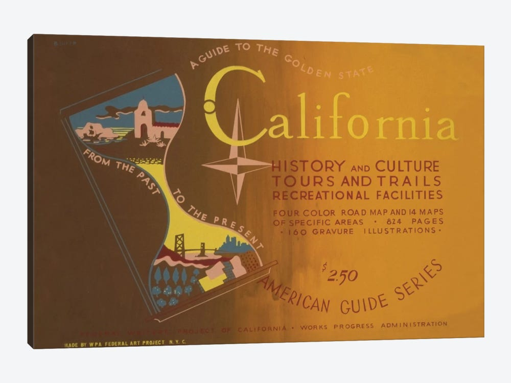 FWP American Guide Series: The Golden State by Library of Congress 1-piece Canvas Art Print