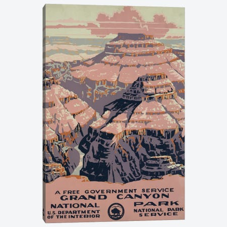 Grand Canyon National Park (A Free Government Service) Canvas Print #LOC6} by Library of Congress Canvas Art