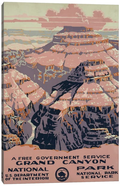 Grand Canyon National Park (A Free Government Service) Canvas Art Print