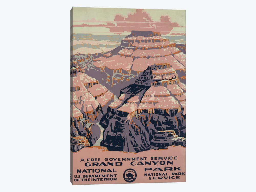 Grand Canyon National Park (A Free Government Service) by Library of Congress 1-piece Canvas Print