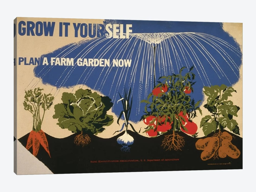 Grow It Yourself by Library of Congress 1-piece Canvas Artwork
