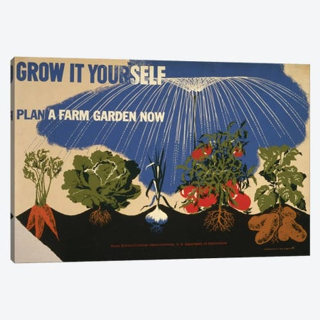 Grow It Yourself Canvas Print #LOC7} by Library of Congress Canvas Artwork