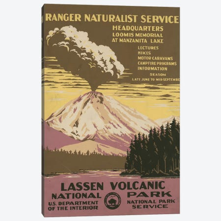 Lassen Volcanic National Park (Ranger Naturalist Service) Canvas Print #LOC8} by Library of Congress Canvas Print