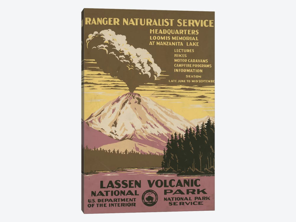 Lassen Volcanic National Park (Ranger Naturalist Service) by Library of Congress 1-piece Art Print