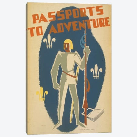 Passports To Adventure Canvas Print #LOC9} by Library of Congress Art Print
