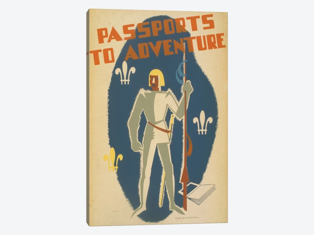 Passports To Adventure by Library of Congress 1-piece Canvas Art