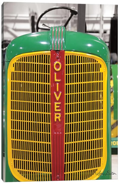 Oliver Tractor Canvas Art Print