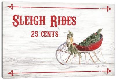 Sleigh Rides 25 Cents Canvas Art Print