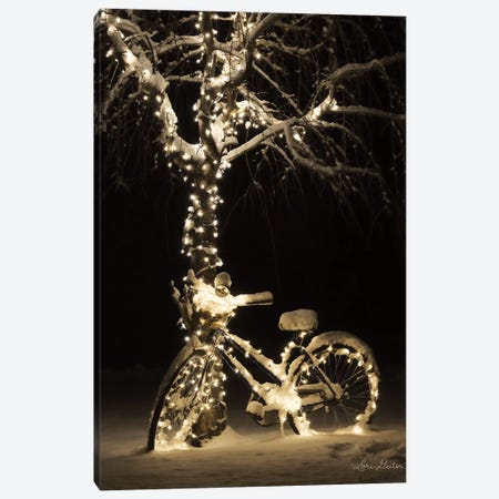 Snowy Bicycle Canvas Print #LOD115} by Lori Deiter Canvas Print