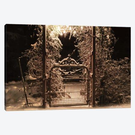 Snowy Garden Gate Canvas Print #LOD116} by Lori Deiter Canvas Print