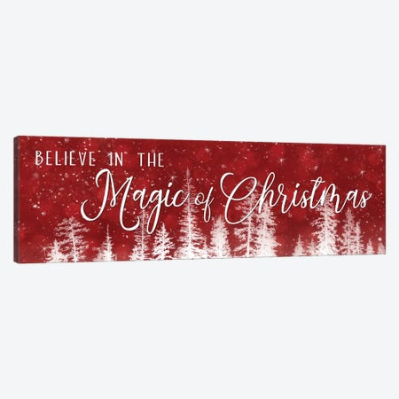 Believe in the Magic of Christmas Canvas Print #LOD125} by Lori Deiter Canvas Artwork