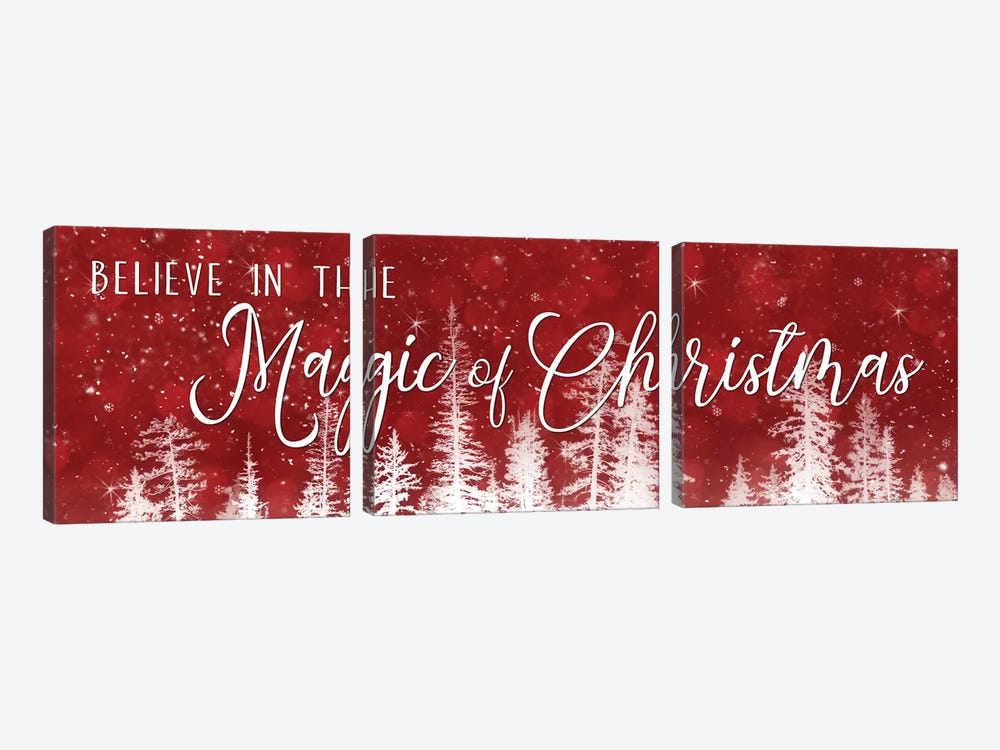Believe in the Magic of Christmas by Lori Deiter 3-piece Canvas Artwork