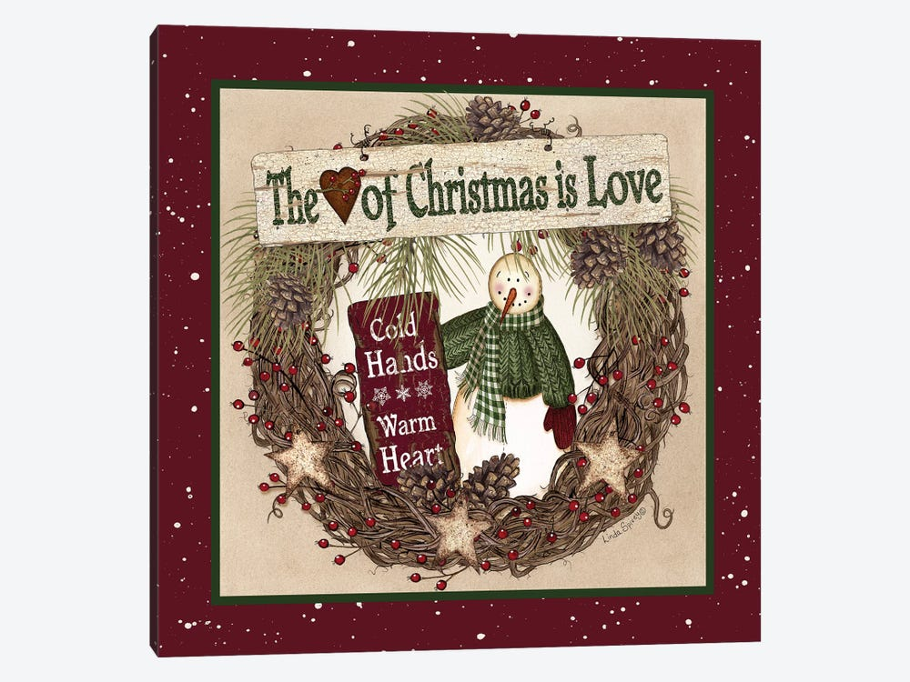 The Heart of Christmas Wreath 1-piece Art Print