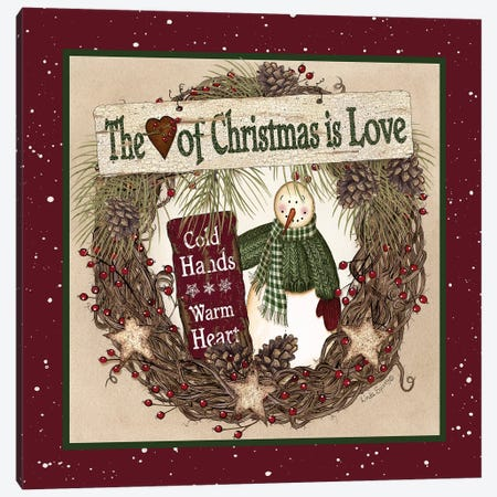 The Heart of Christmas Wreath Canvas Print #LOD135} by Lori Deiter Art Print