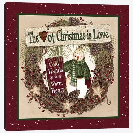 The Heart of Christmas Wreath Canvas Print #LOD135} by Lori Deiter Art Print