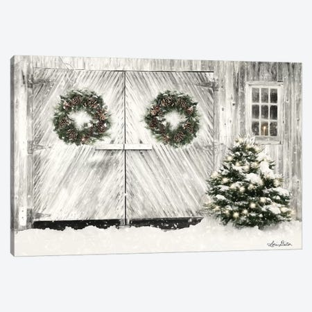 Christmas Barn Doors Canvas Print #LOD143} by Lori Deiter Canvas Print
