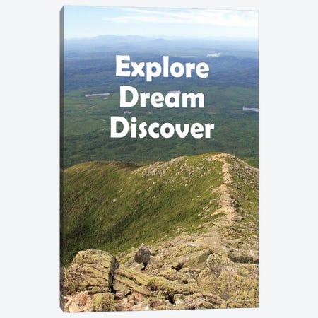 Explore Dream Discover Canvas Print #LOD145} by Lori Deiter Canvas Wall Art