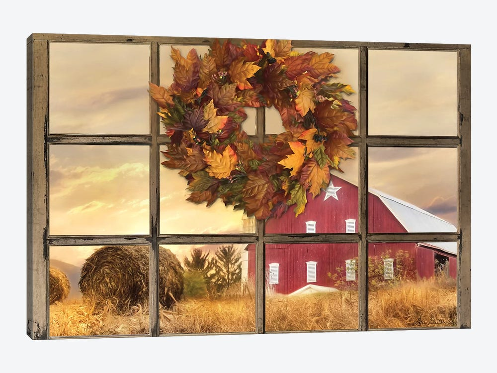 Fall Window View  by Lori Deiter 1-piece Canvas Art