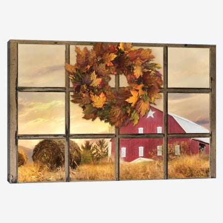 Fall Window View  Canvas Print #LOD149} by Lori Deiter Canvas Art Print